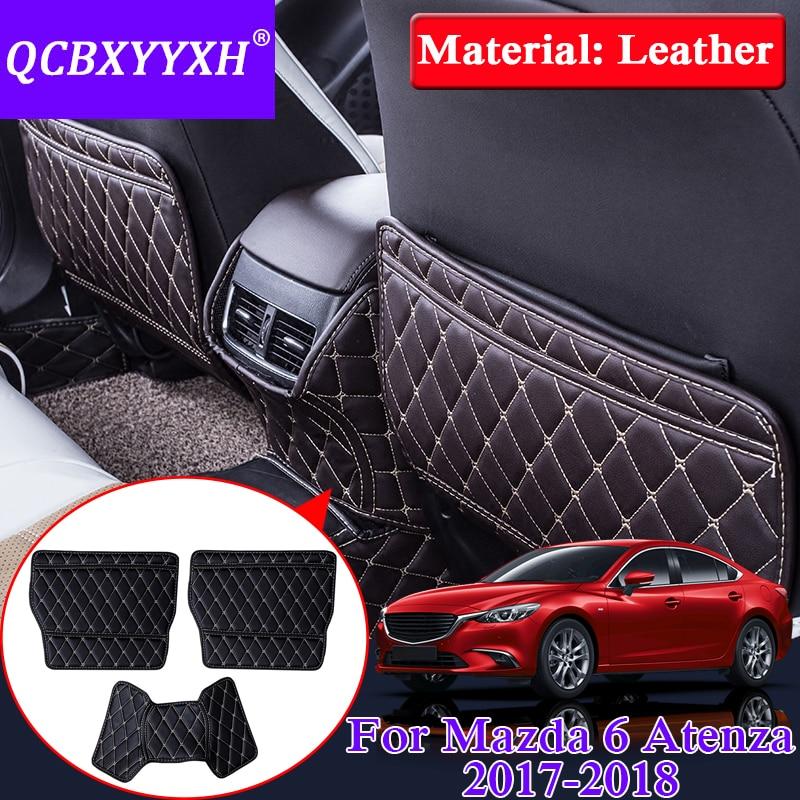 QCBXYYXH Car Armrest Cover Kick Pad Case Back Seat Protection Mat Children Anti-Kick Pad For Mazda 6 Atenza 2016-2018 Accessory