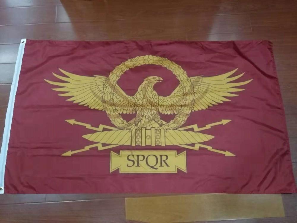 Johnin 90*150cm SPQR Roman Empire Senate And People Of Rome Flag