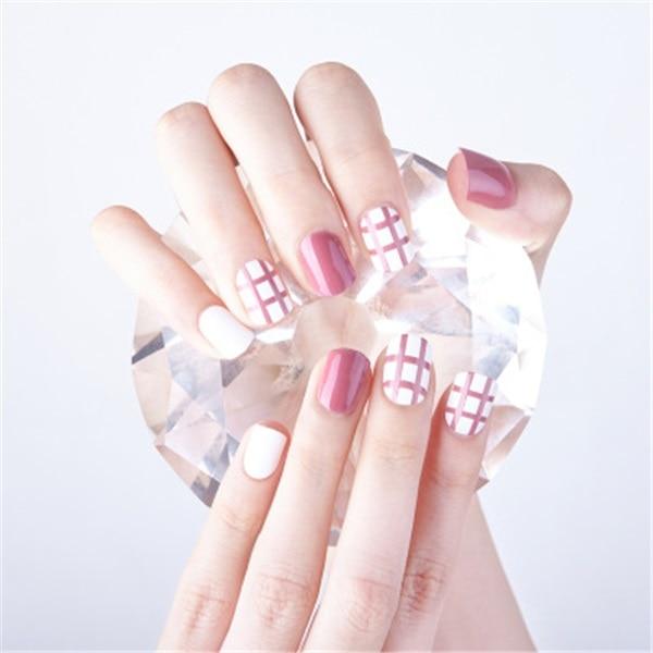 24stk Pre Design Fake Nails Färg Gradient False Nails Beautiful Nail Tips Gratis frakt