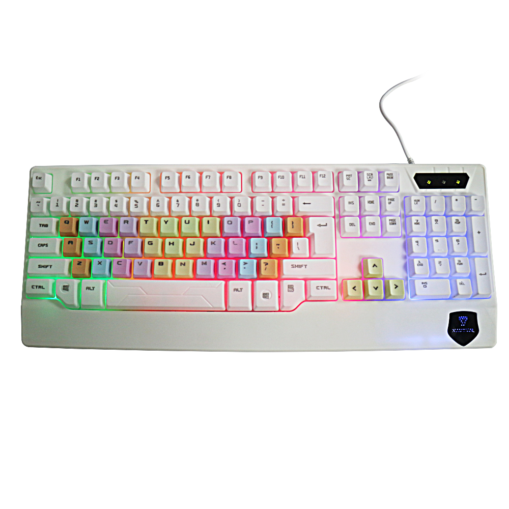 Low Price Clearance Beautiful Backlight Keyboard Colorful Lighting USB Women Keyboards For Laptop PC Dota2 LOL CS On Sale image