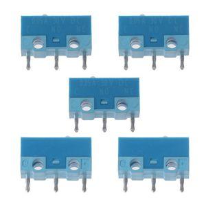Image 1 - HUANO Micro interrupteur de souris, 5 pièces, coque blanche et bleue, 0,74n, Contacts en alliage dargent, 20 Millions de vie