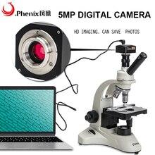 Phix 5mp USB цифровой микроскоп 40X-1600X монокулярный биологический студенческий HD микроскоп