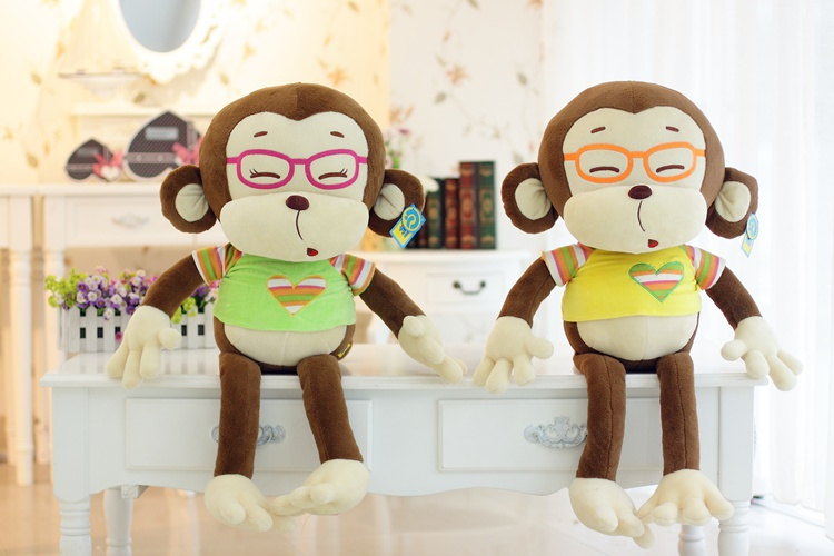 stuffed animal 65 cm glasses monkey plush toy soft doll w1904 stuffed animal 120 cm cute love rabbit plush toy pink or purple floral love rabbit soft doll gift w2226