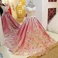 LS01547 árabe vestidos de noite vestidos de cetim apliques de renda vestido de baile querida corset voltar abendkleider 2017 100% fotos reais