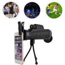 12X50 35X50 40X60 telescopio lente de Zoom de cámara de teléfono móvil para iPhone Samsung Huawei Xiaomi Smartphone Monocular teleobjetivo