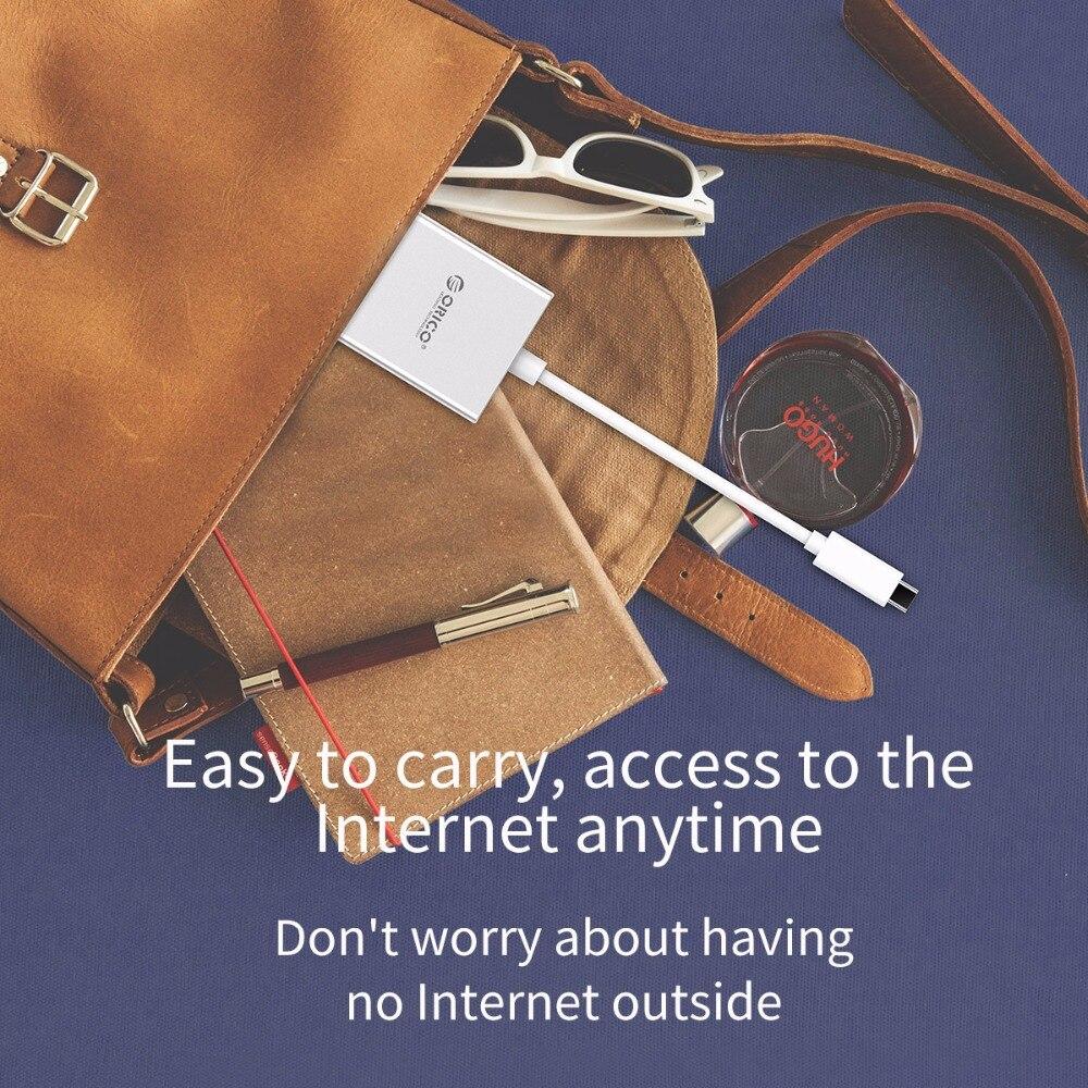 Adaptateur Mini ORICO type-c vers Gigabit Ethernet RJ45 avec chargeur PD séparateur Usb pour MACbook pro Mac Windows Linux PC - 6