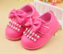 Kids Shoes 2016 Spring Girls Leather Shoes Princess Tassel Flats Children Shoes Girls Cute Sneakers For