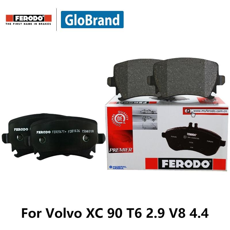 4pcs/lot Ferodo Front Car Brake Pads For Volvo XC 90 T6 2.9 V8 4.4 Sedan FDB1631 2pcs lot ferodo car front brake disc for volkswagen polo 1 4 1 6 lavida bora golf 4 ddf929 d