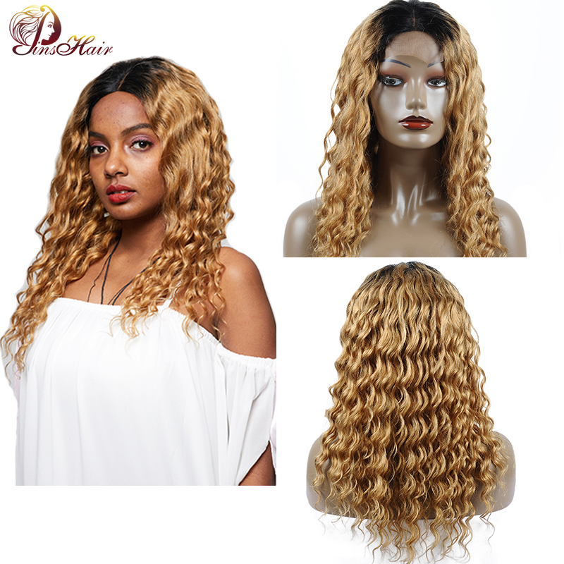 Peruvian Loose Deep Wave Lace Front Wigs 1B 27 Blonde Lace Front Wig For Women Short Lace Front Human Hair Wigs Closure Non Remy