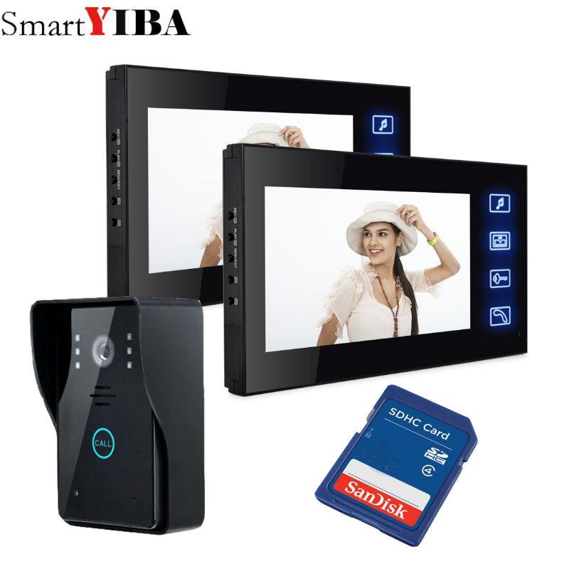 SmartYIBA 7LCD color screen Video doorbell door phone for home Speakerphone Intercom System With Waterproof Outdoor IR Camera