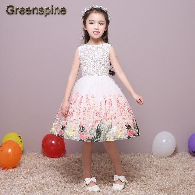 46760231c48 Toddler Wedding Embroidery Flowers Children Dress Pageant Ball Gowns Formal  Toddler Ivory Flower Girl Dresses Custom-made