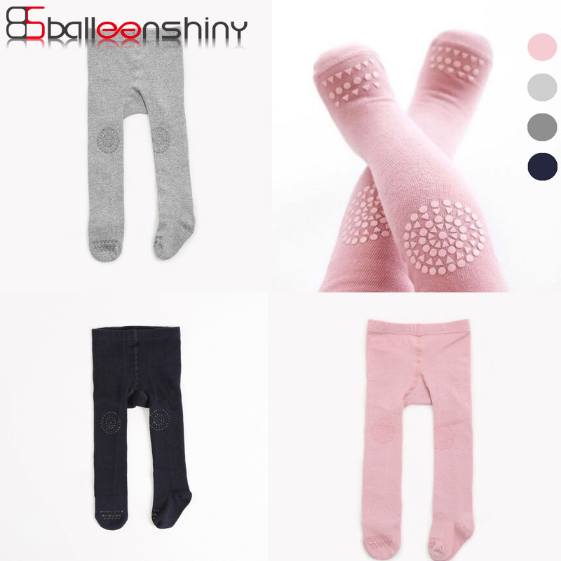 BalleenShiny Baby Cotton Soft Tights Comfortable Hot Sale Autumn Winter Infant Children Kids Girl Pantyhose Solid Warm Clothing