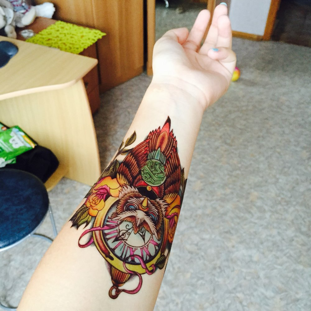 Body Art Beauty Makeup Cool Owl Waterproof Temporary Tattoo Stickers