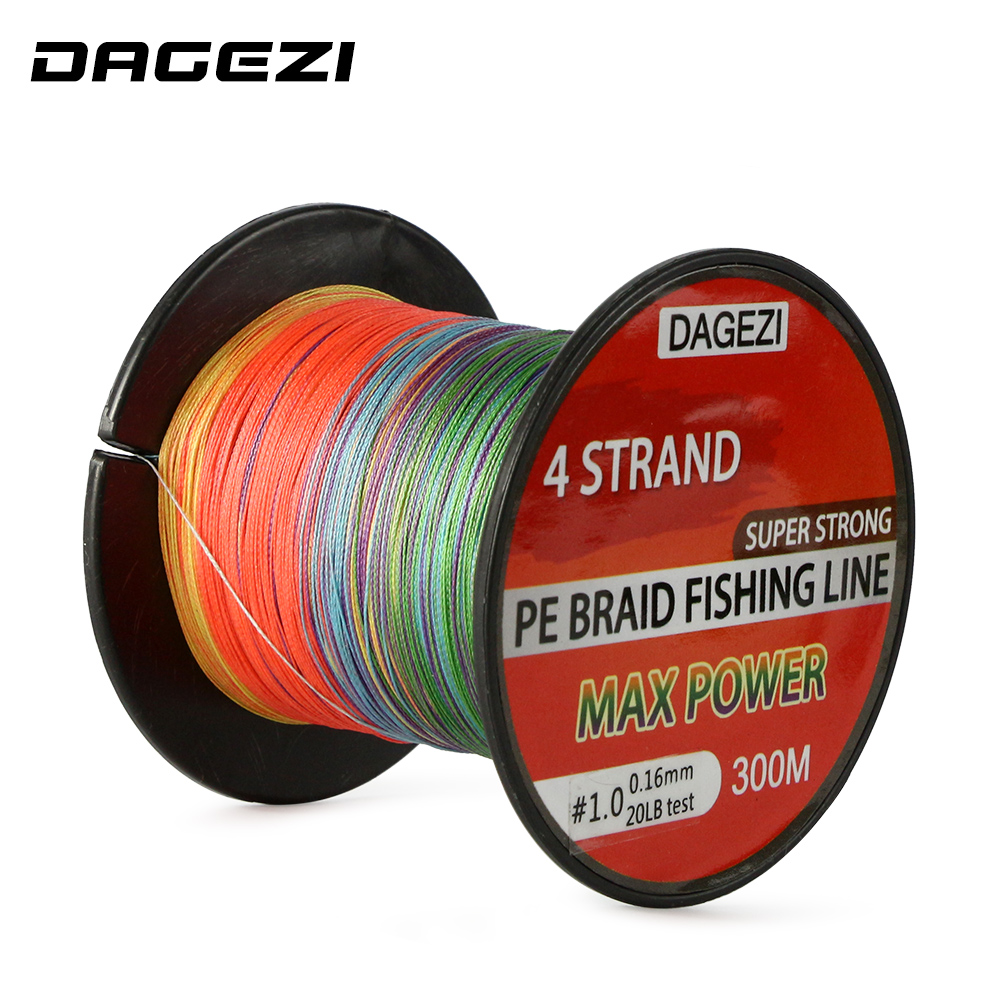 DAGEZI 10 90LB 100% mix color PE Braided Fishing Line With Gift 4 ...