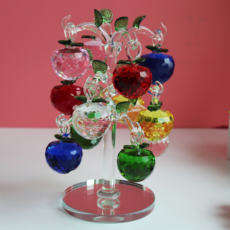 Crystal Glass Artificial Christmas sale decorations Apples ...