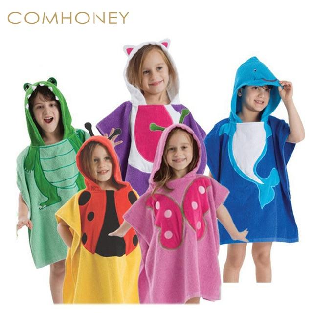 Baby Bath Towel Child Cotton Animals Swim Robes Boys And Girls Hooded Cute  Bathrobe Beach Pool Swimming Poncho Style 6a02a8cbb