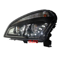 Lens Headlights With LED And Bi Xenon Projector For Nissan Qashqai 2008 2013
