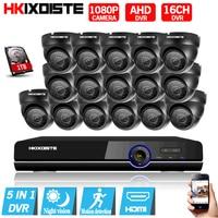 Home 16ch AHD 1080N DVR 1080P 3000tvl Indoor Corridor Security Camera Cctv System Video Surveillance Kit