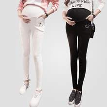 2016 fall Maternity Skinny Pregnancy Long Pants Trousers Winter Pregnant Women Clothes Stretch Cotton Adjustable Waist