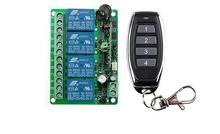 NEW DC12V 10A 4CH Radio Controller RF Wireless Push Interruttore di Telecomando 315 MHZ 433 MHZ teleswitch Trasmettitore + Ricevitore