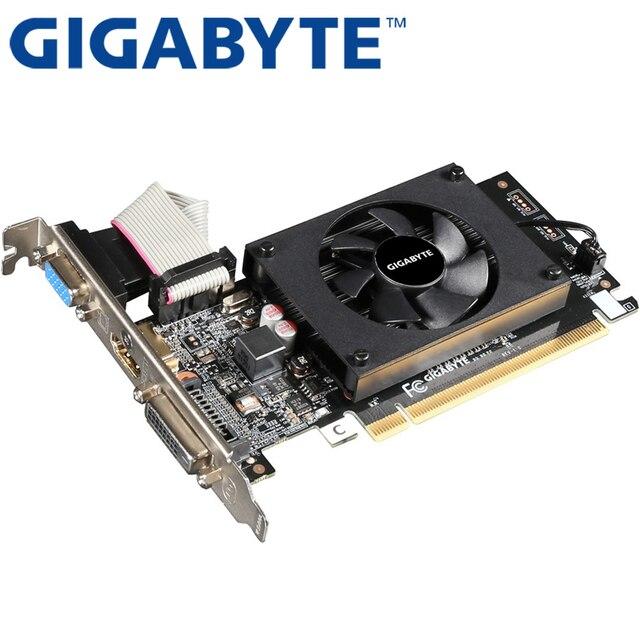GIGABYTE Graphics Card GT710 1GB 64Bit GDDR3 Video Cards for nVIDIA VGA Cards Geforce Original GT 710 Used Hdmi Dvi game 2