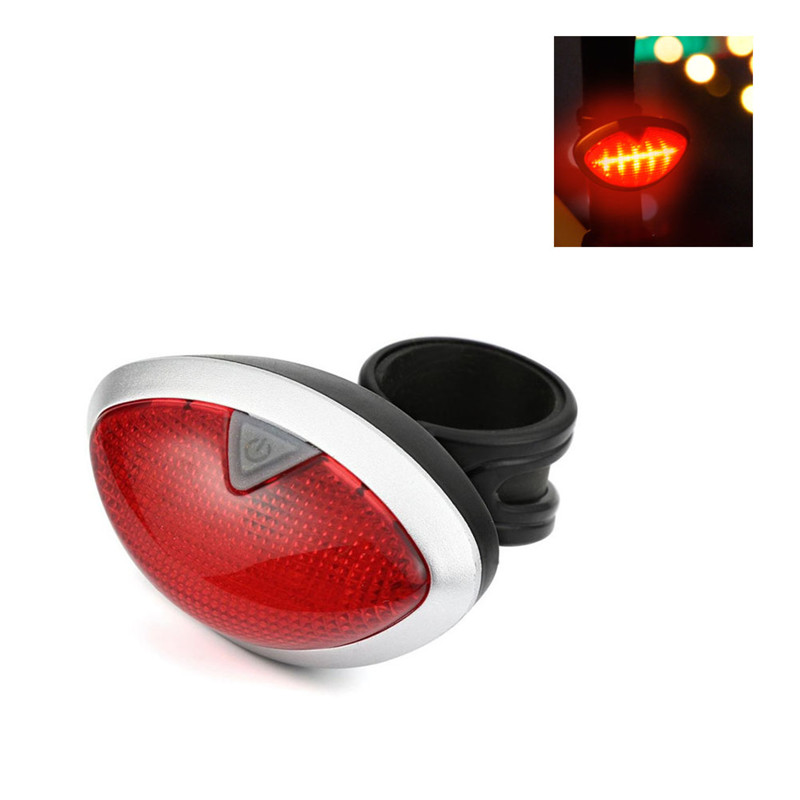 20h 7 Flash Modes 4-MB Oval Red Bike Cycling Lights LED Rear Light Warning Light Safety Taillights Outdoor Cycling Safety