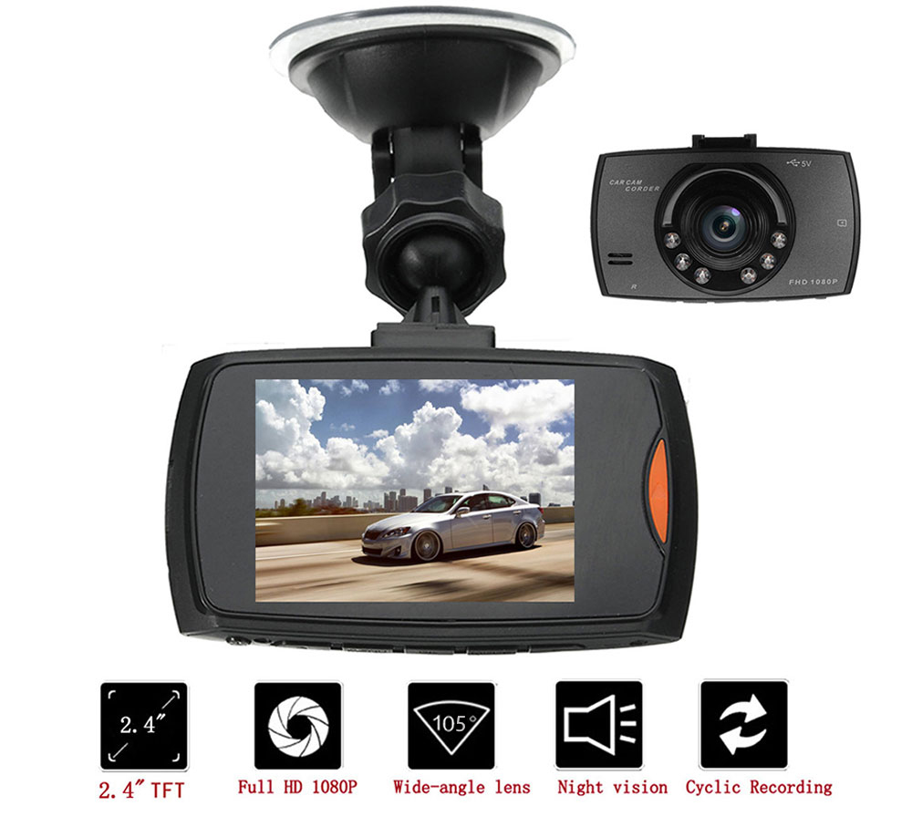 Car DVR Registrator Driving-Recorder Dash-Cam Night-Vision Vehicle G-Sensor Portable