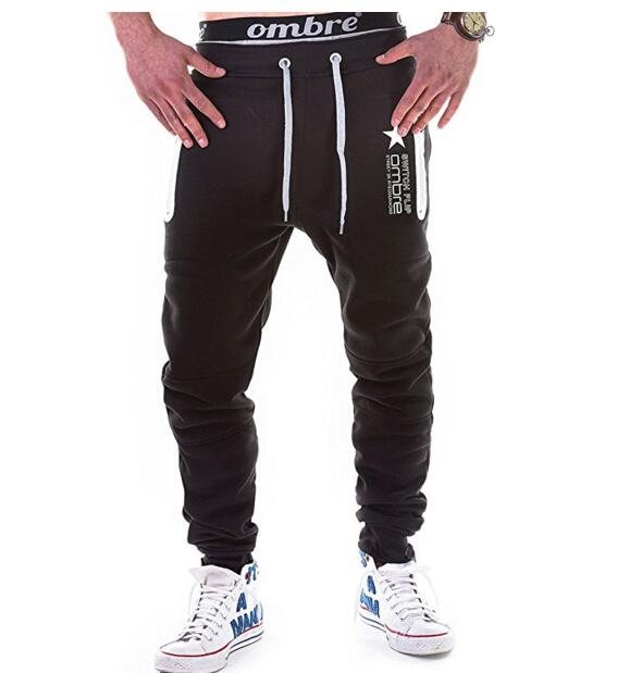 Casual Fashion Mens Pants Mens Pure Color Front Stitching Printed Sweat Pants Korean Large Size Teenagers Pants LG090