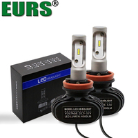 EURS 1 Pair All In One High Quality S1 CSP 50W 6500K 8000LM H1 H4 H7