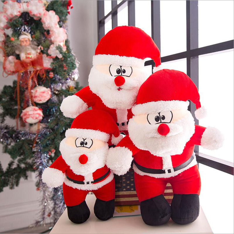 Lovely Santa Claus Short Plush Toy Stuffed Soft Doll Christmas Gift Send to Children & Girlfriend