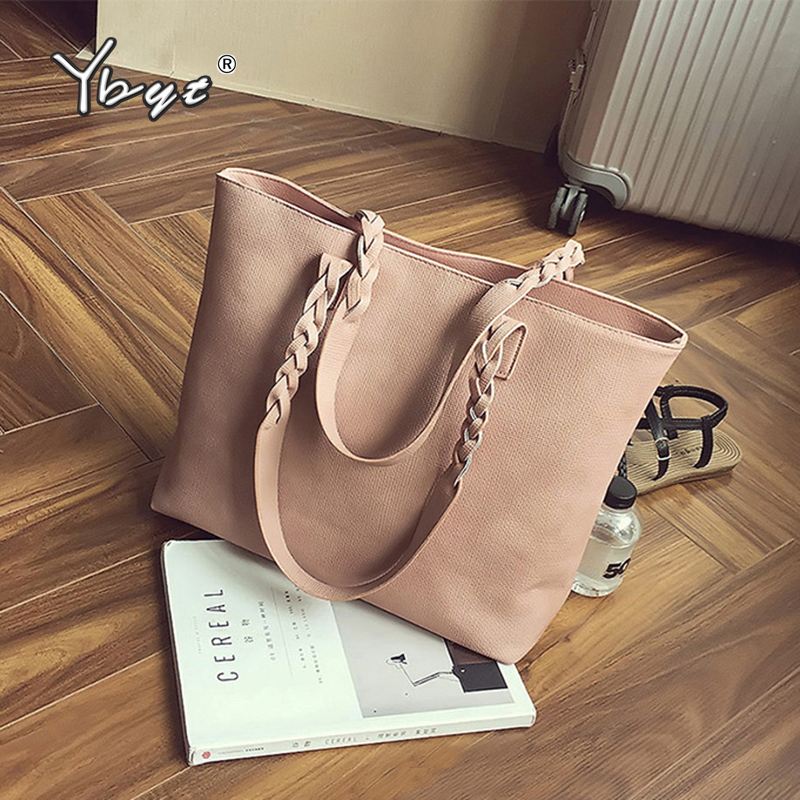 YBYT Brand Tassel Shoulder Bag Woman Vintage PU Leather Handbags Lady Fashion Shoulder Bag Purse Causal Totes For Daily Shopping