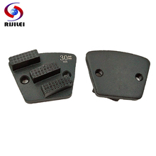 цена на RIJILEI 6PCS Diamond Grinding Disc Concrete grinding block stone Grinding Shoe Plate Disc For Grinding Concrete Floor JX04