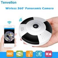 HD 960 P 3D VR Wi-Fi ip-камера 360 градусов рыбий глаз 1.3MP панорамная безопасность мини-камера видеонаблюдения беспроводная умная камера TF слот для кар...