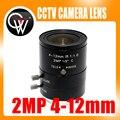 2MP 4-12 мм IR Объектив C Mount 2,0 мегапикселей HD промышленный объектив с фокусным расстоянием ручной радужной диафрагмой cctv объектив для камеры ви...