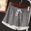 2016 Pijamas de la Marca de las mujeres Casual Pantalones Cortos de Entrenamiento de fitness ejercicio Sexy gris/rosa Pantalones Cortos Sueltos de Cintura Elástica ydk3-1