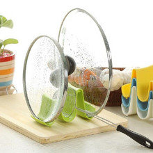 New Plastic Kitchen Wave Shape Pot Pan Cover Lid Shell Stand Holder Racks Ladle Spoon Storage Rack Cooking Tools