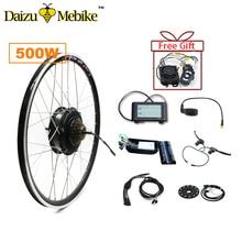 Livraison gratuite 36 v 500 w arrière moteur roue électrique vélo Ebike Kit de Conversion pour 20»26»700c 28 »E vélo accessoires Ebike Kit