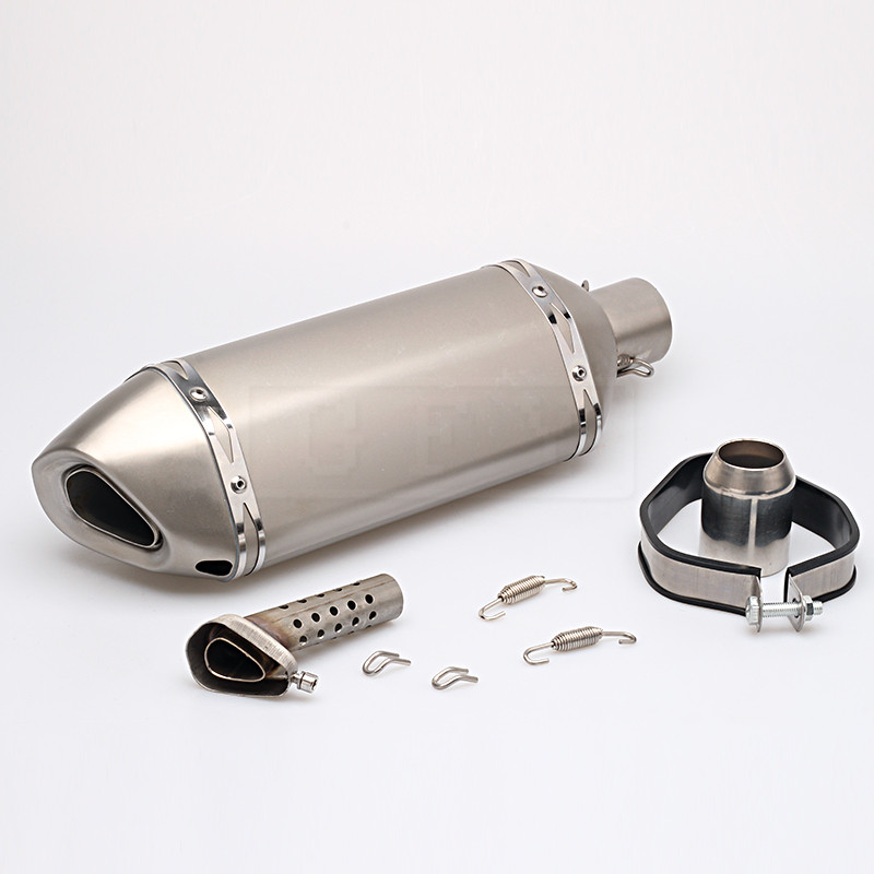 Universal 51MM Motorcycle Akrapovic Exhaust Pipe With Muffler Motocross Moto GP Pot Escape For Honda Suzuki Yamaha KTM Slip-on motorcycle exhaust muffler with akrapovic laser marking slip on for honda rs150 rs150r moto escape