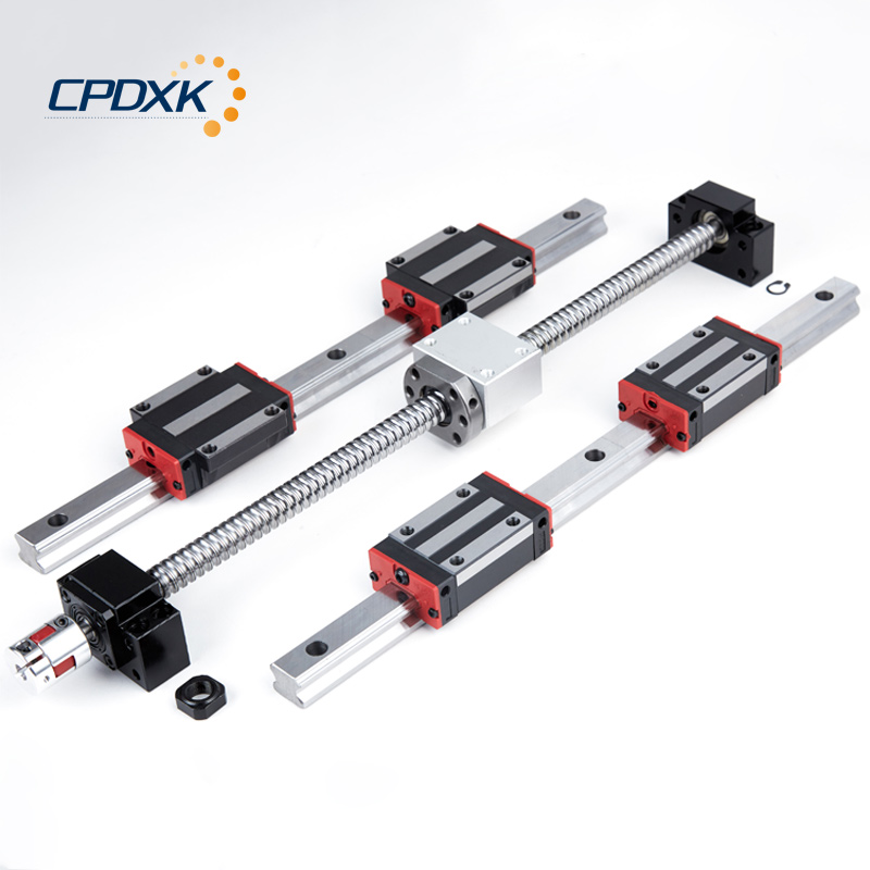 6 sets linear guide rail HGR20 400 1000 1600mm ballscrew SFU1605 450 1050 1650mm BK BF12