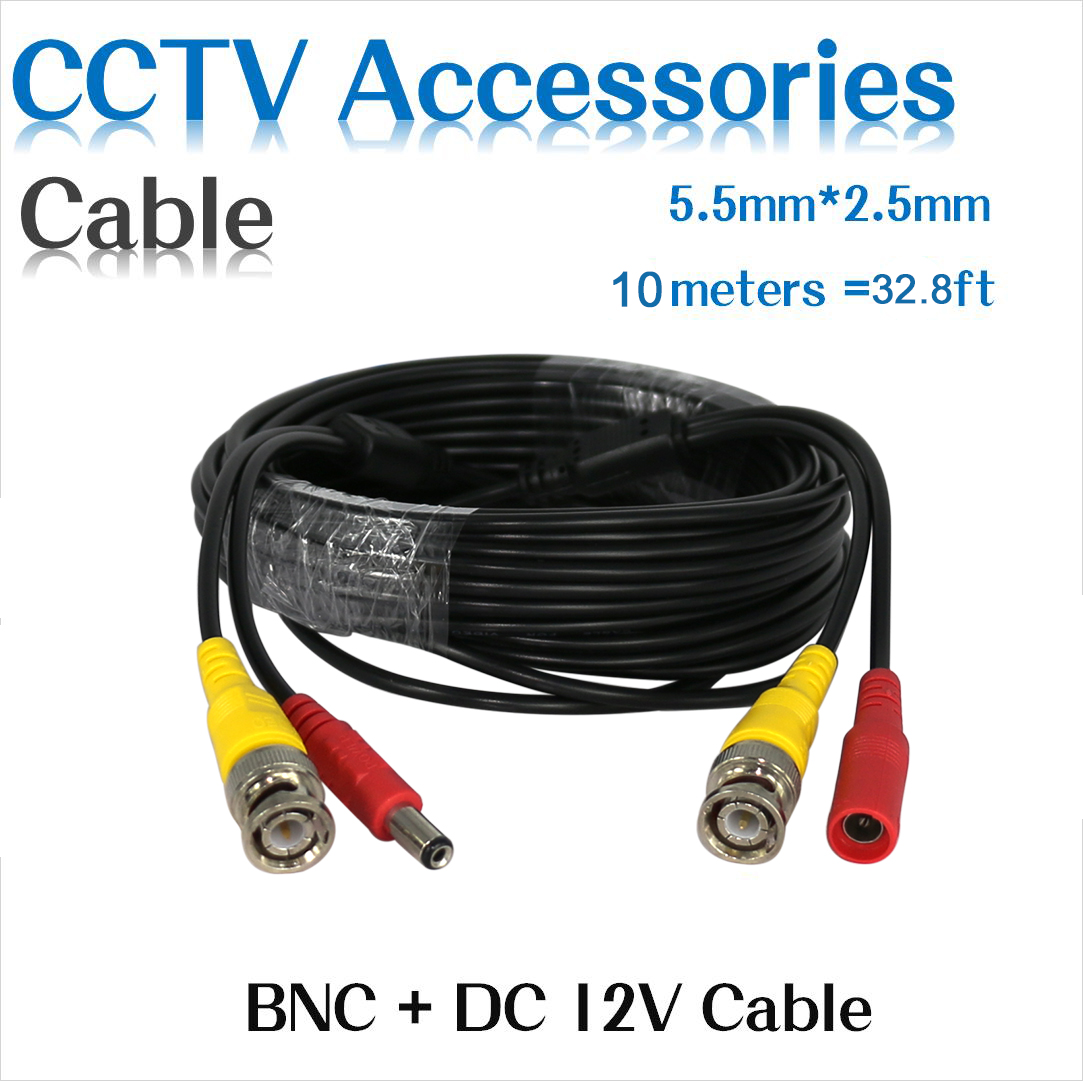 Hiseeu BNC Video Power Siamese Cable 59ft 18m for Analog AHD CVI CCTV Surveillance Camera DVR Kit cctv cable