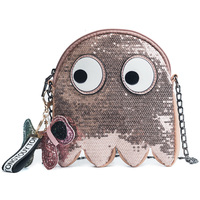 2018 summer new fashion sequins cartoon eye chain messenger bag cute mini bag.