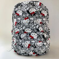 40cm Kawaii Hello Kitty Plush Backpack Lovely Cat Canvas Plush Bag Soft Canvas Doll for School Bag Gift
