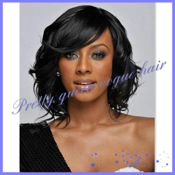 New Fashion Short Wavy Black African American Wigs For Women 10