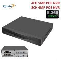 ZJUXIN H.265/H.264 POE NVR 4CH 8Ch POE NVR 48V 802.3af ONVIF 2.0 XMEYE IEE802.3af Active POE NVR Recorder Motion Detection