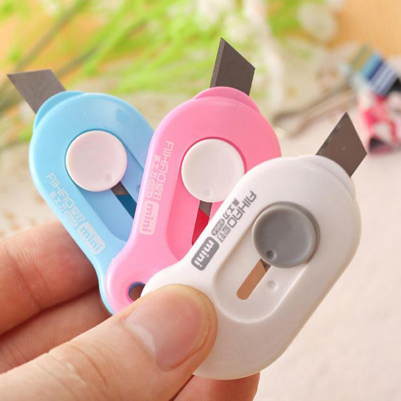 Jonvon Satone 3 Pcs Mini Portable Small Art Knife Express Opener Letter Cutter Office Paper Knife Art Crafts Supplies Stationery