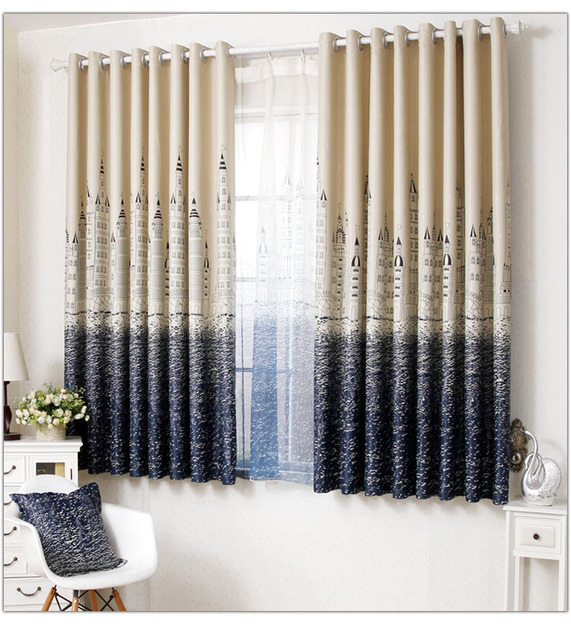 Morden Short Curtains Tulle Or Organza Balcony Half Curtain Bay Window Voile Finished