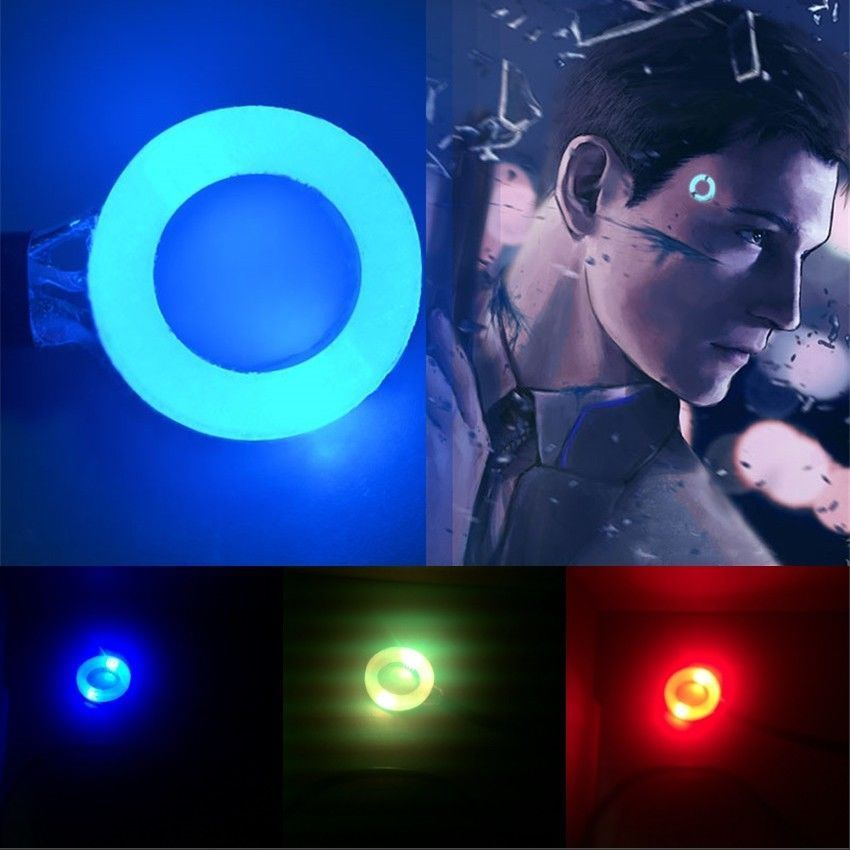 New Detroit Become Human Cosplay Connor RK800 Temple Head LED Light Prop