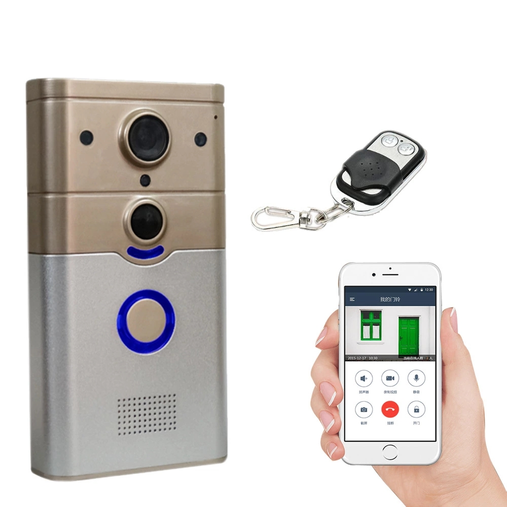 Wireless WIFI Smart Doorbell with PIR Alarm & Dingdong for Real-time Video Call Unlock Photograph Videotape by Free Mobile APP image