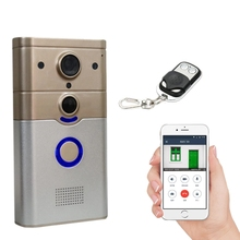 Wireless WiFi Smart Doorbell with PIR Alarm for Real-time Video & Call, Unlock, Photograph, Videotape by Mobile APP & Tablet PC