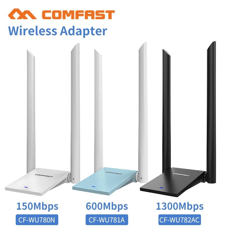 MT7612UN 802.11 B/g/n/ac 1300Mbps USB3.0 Wireless WiFi Adapter With 2x 6dBi WiFi Antenna For Windows 7/8/10/ Window10